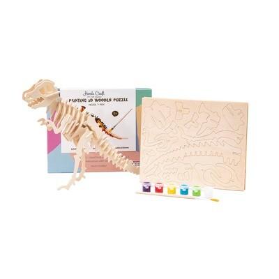 Hands Craft - HC201, 3D Wooden Puzzle Paint Kit: T-Rex