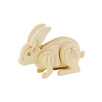 3D Wooden Puzzle: Rabbit