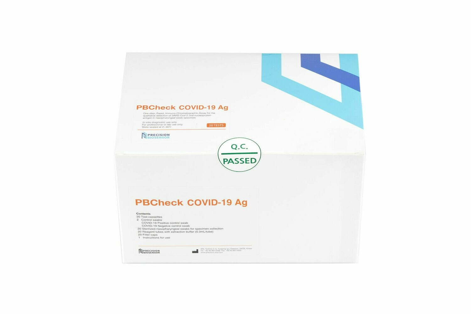 PBCheck COVID-19 Ag Test, 20 шт.