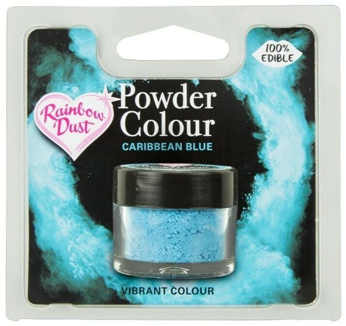 Rainbow Dust Pulverfärg Carrabean Blue