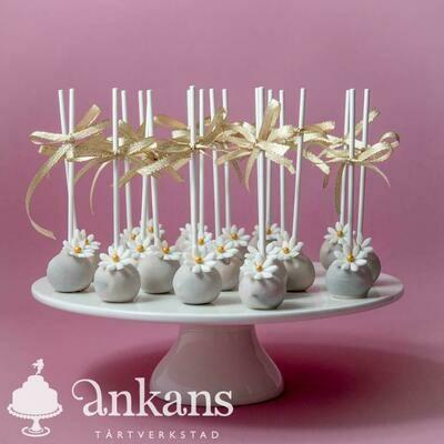 Cakepops - Blommor och rosett