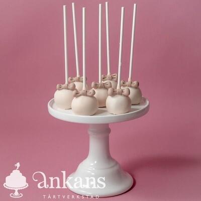 Cakepops med rosett