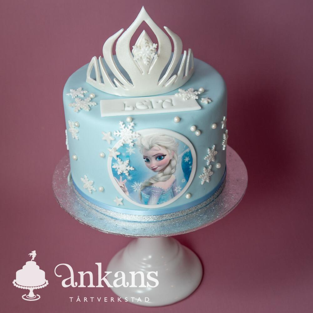 Frost tårta med Elsa och krona