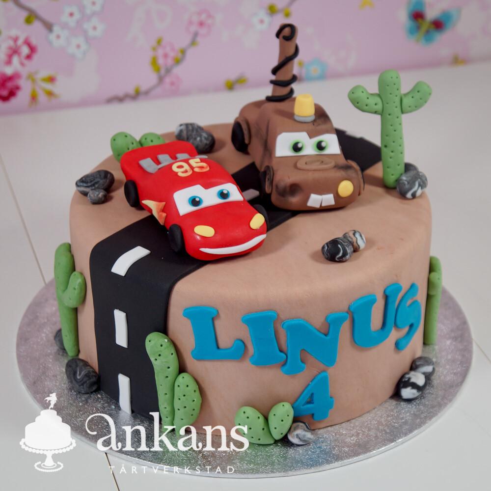Tårta med bilar
