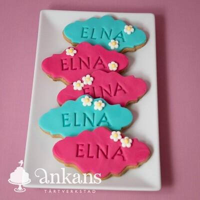 Dekorerade kakor - med namn
