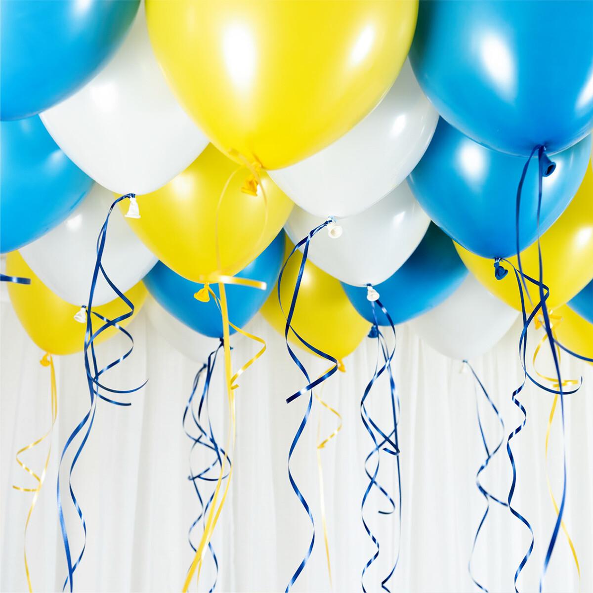 Studentballonger Ceiling Kit Gul & Blå