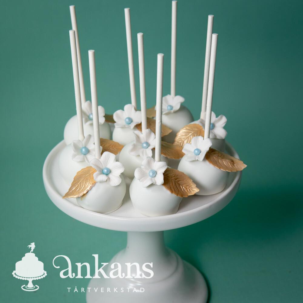 Cakepops med blomma & blad