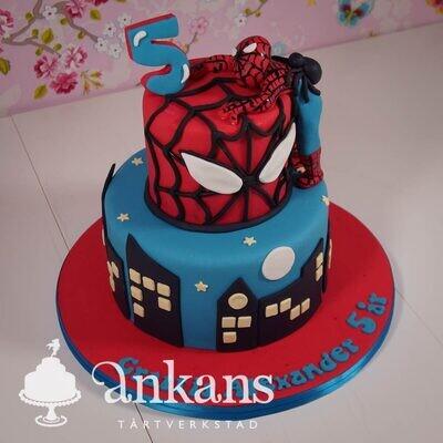 Spiderman på två våningar