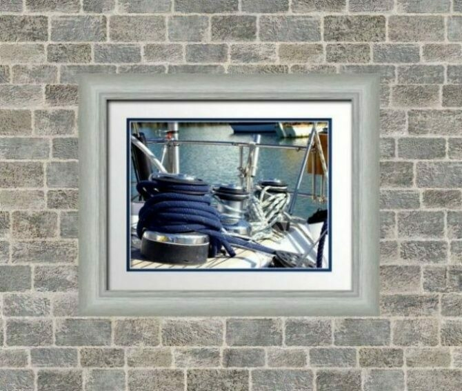 Gold or Silver 50 x 40 Frame with Border