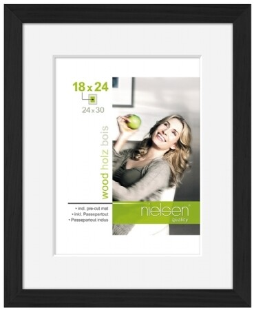 BLACK CONTEMPORARY 24X30 PHOTO FRAME
