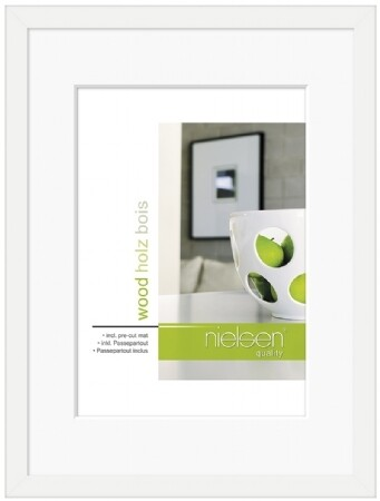 WHITE CONTEMPORARY 7X5 PHOTO FRAME