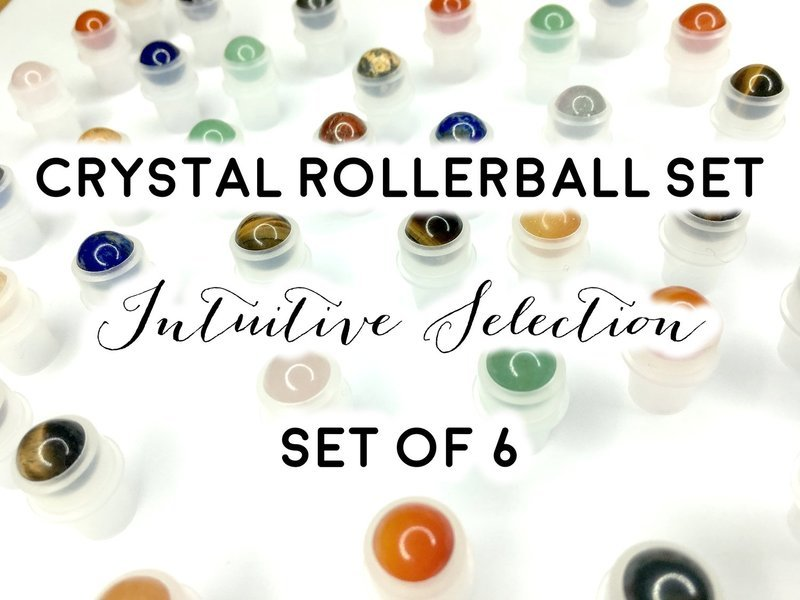 Crystal Rollerballs Set: Intuitive Selection of 6