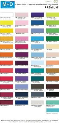 Flex M+D premium larghezza 50cm - TERMOADESIVO per tessuti e T-shirt colori standard e NEON fluo