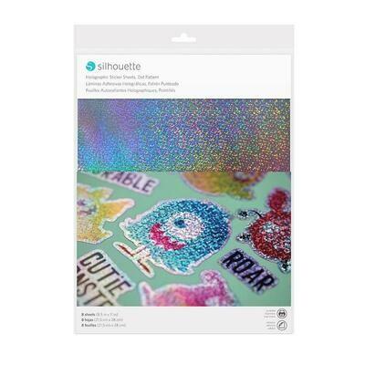 STICKER SHEETS - HOLOGRAPHIC DOTS - Carta adesiva stampabile - olografica