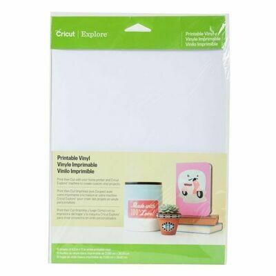 VINYL-PRINT- PRINTABLE VINYL - Fogli di vinile adesivo stampabili bianchi A4 per Silhouette - Cricut - Brother