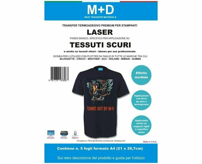 transfer stampabili LASER di alta qualità per tessuti scuri - carta transfer