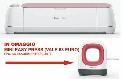 Cricut Maker Rose- plotter da taglio - versione europea 2007004 - colore Rosa + omaggio n. 1 MINI EASY PRESS CRICUT DEL VALORE DI EURO 63,00