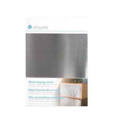 METAL-STIP - METAL STIPPLING SHEETS - Fogli metallici argento per punzonatura dim. 12,7cm x 17,7cm