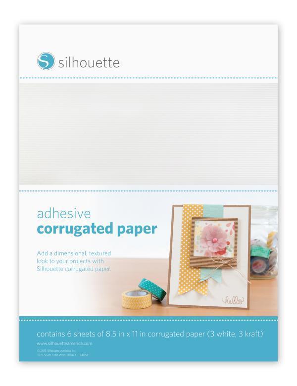 MEDIA-COR-ADH - CORRUGATED PAPER - Carta Corrugata adesiva bianca e kraft dim. 21,6 cm x 28 cm