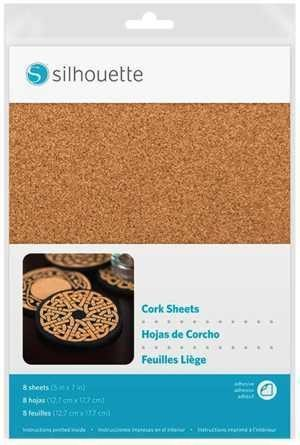 MEDIA-CORK - SHEETS - fogli adesivi speciali in Sughero dim. 12,7cm x 17,7cm