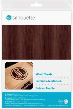 MEDIA-WOOD - SHEETS Fogli adesivi speciali effetto legno 3D dim. 12,7cm x 17,7cm