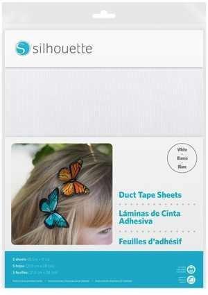 MEDIA-DUCT-WHT - DUCT TAPE SHEETS - Fogli adesivi speciali stampabili ad effetto nastro adesivo dim. 21,5 cm x 28 cm