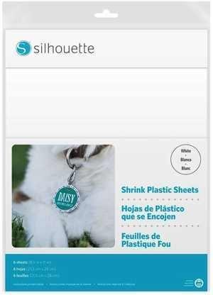 MEDIA-SHRINK-WHT - PLASTIC SHEETS - Fogli in plastica speciale termoretraibile termoindurente bianco opalino dim. 21,5 cm x 28 cm