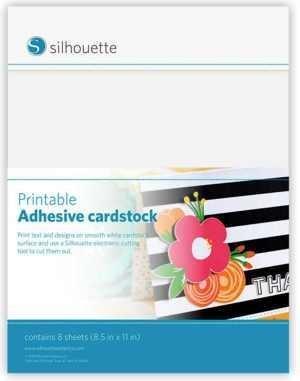 MEDIA-CARD-ADH - PRINTABLE ADHESIVE CARDSTOCK - Cartoncino AdesivoStampabile 21,59 CM X 27,94CM Bianco