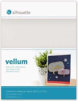 MEDIA-VELLUM - VELLUM - Carta velina bianca semi-trasparente dim. 21,6 cm x 28 cm