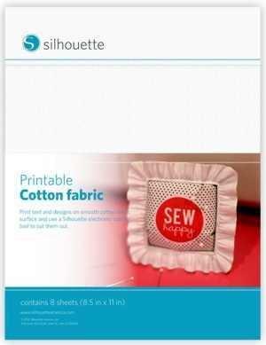MEDIA-CTNFAB - PRINTABLE COTTON FABRIC - Fogli in Tessuto di cotone stampabile pronto per il taglio dim. 21,5 cm x 28 cm