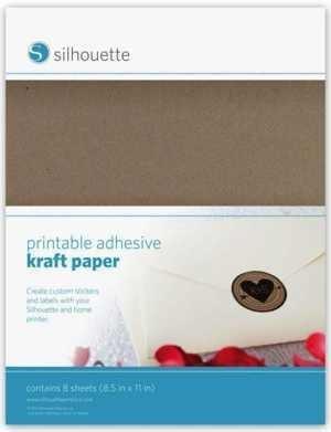 MEDIA-KFT-ADH - PRINTABLE ADHESIVE KRAFT PAPER - Carta Kraft Stampabile adesiva A4