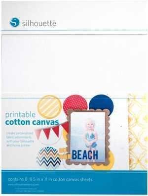 MEDIA-CANVAS-ADH - PRINTABLE COTTON CANVAS - Tela di cotone adesiva stampabile A4