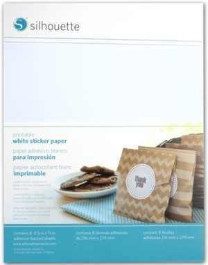 MEDIA-WHT-ADH - PRINTABLE WHITE STICKER PAPER - Fogli adesivi stampabili bianchi A4