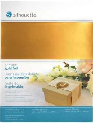 MEDIA-GLD-ADH - PRINTABLE GOLD FOIL - Fogli adesivi stampabili ORO A4