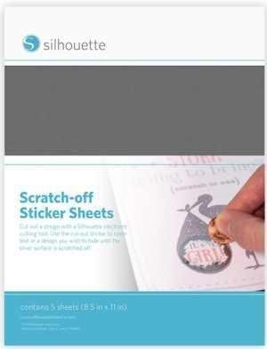 MEDIA-SCRATCH-SVR - SCRATCH OFF STICKER - Pellicola per Grattini Adesivi argento A4
