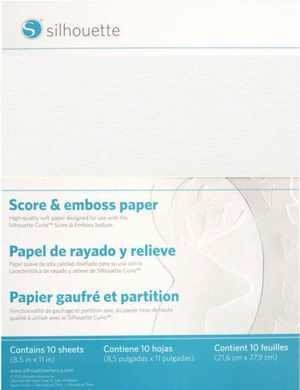 EMBOSS-PPR-LTR - SCORE EMBOSS PAPER - fogli grandi di carta speciale per Embossing dim. 21,5cm x 27,9cm