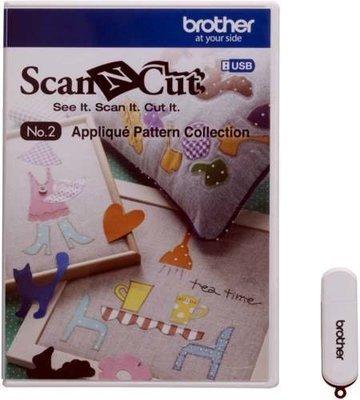 CAUSB2 - Collezione n. 2, disegni per applicazione - Brother ScanNcut