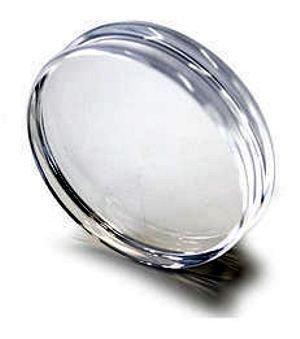 supporto per timbri rotondo in acrilico (plexiglass) diametro 70 mm