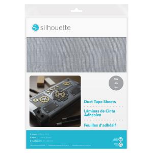 MEDIA-DUCT-GRY - DUCT TAPE SHEETS - Fogli adesivi speciali stampabili ad effetto nastro adesivo dim. 21,5 cm x 28 cm