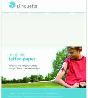 MEDIA-TATTOO - TEMPORARY TATTOO PAPER - Fogli trasparenti  stampabili per tatuaggi temporanei 21,60cm x 28cm