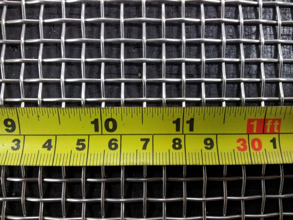 Stainless woven 4 mesh: 5.15mm aperture SS4M18GW1L1