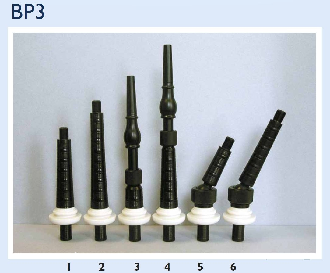BP3 Single Combed Plastic Wide Bore Blowpipe