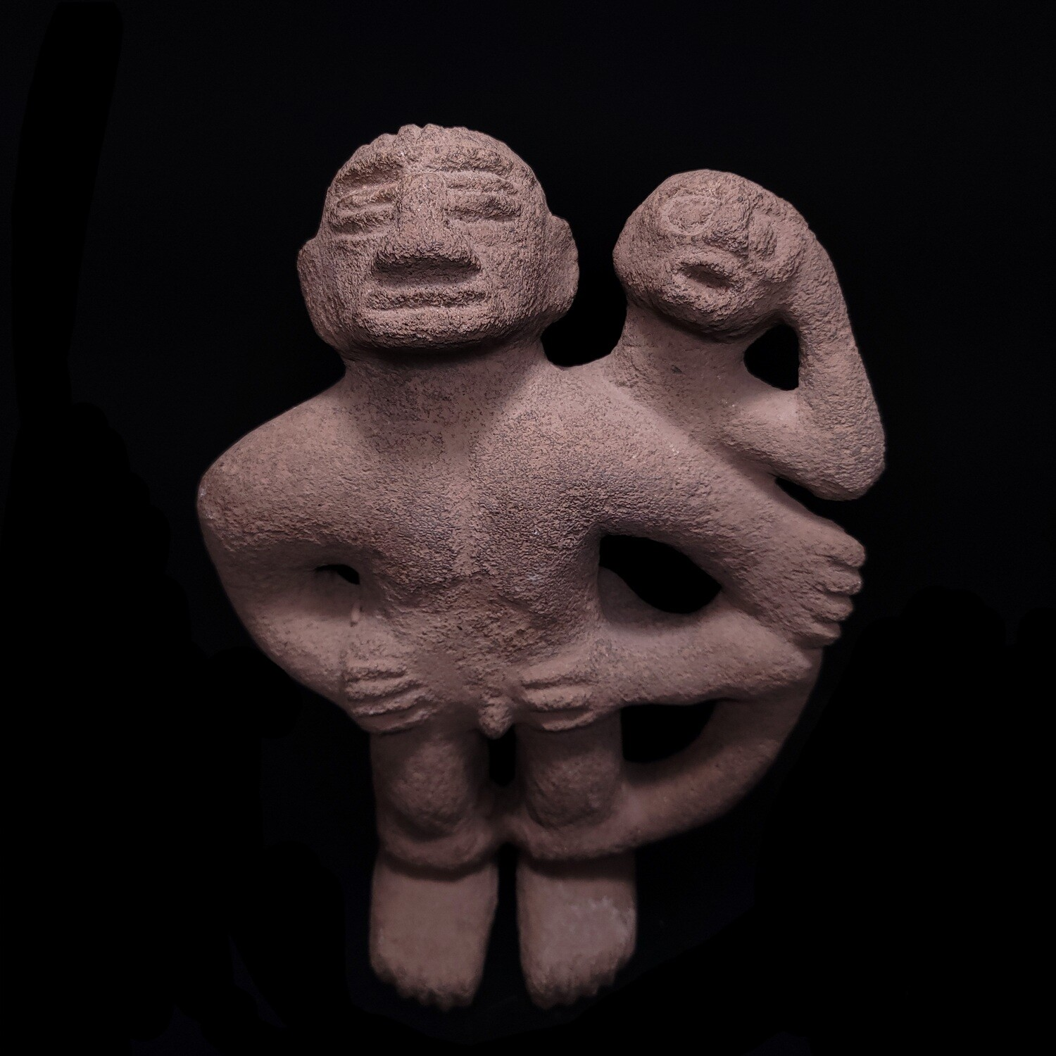 Costa Rican Stone figure with monkey