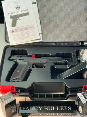 RUGER 57 SA PST 5.7X28 BLK 20RD WITH 100 RDS OF AMMUNITION