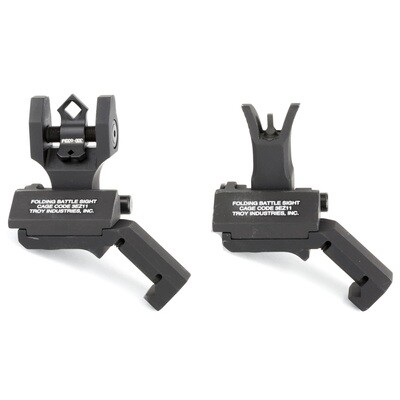 TROY, 45 Degree Battle Sight, Fits Picatinny, Black, M4 Front Sight and Dioptic Rear