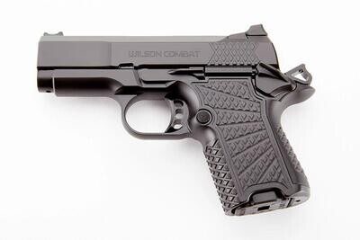 """Wilson Combat SFX9, Non-Lightrail Frame Handgun 9mm Luger 10rd Magazine 3"""" Barrel Aluminum X-Frame, NIGRINI CASE AND 1 EXTRA 15 RD MAGAZINE IS INCLUDED."""