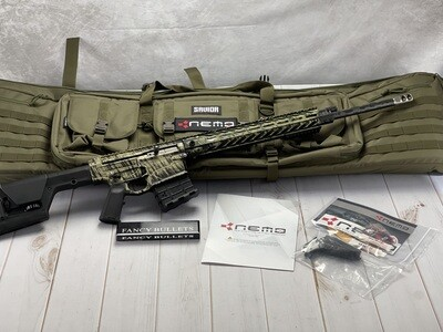 """Nemo Arms, Omen Watchman, Semi-automatic, AR, 300 Winchester Magnum, 24"""" Proof Research CF Wrapped Barrel, Anodized, Magpul PRS Stock, Geissele SSA-E Trigger, 14Rd"""