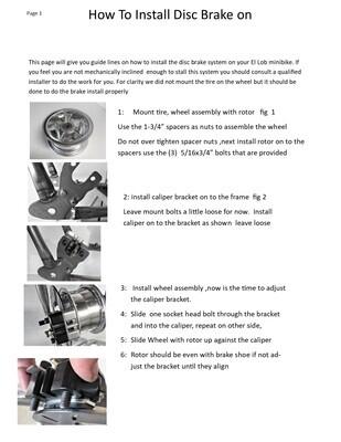 HOW TO LOBO DISC BRAKE