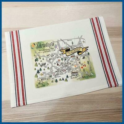 Saratoga Map Kitchen/Tea Towel