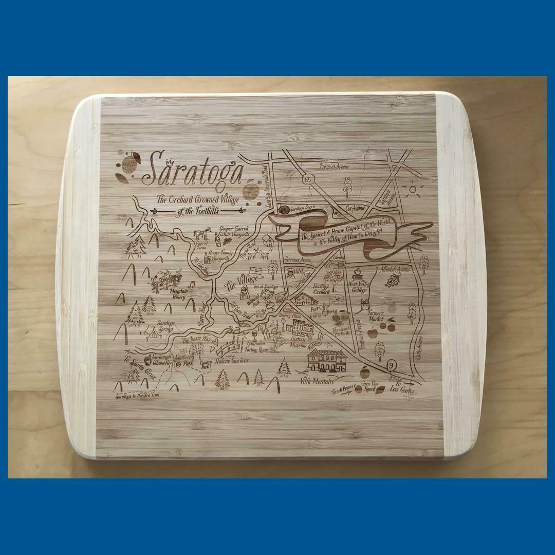 Saratoga Map Cutting Board